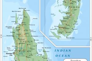 Map zanzibar